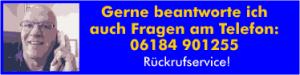 Anrufmöglichkeit zwischen Hanau und Gelnhausen